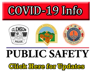 City of Clemson Public Safety COVID-19 Information